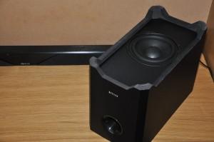 The Evolve SB-2500 soundbar subwoofer does an excellent job of moving air