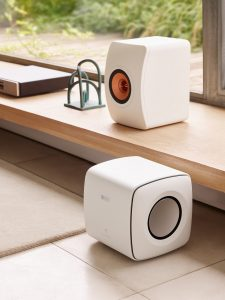 KEF KC62 with LS50 Wireless II news story lifestyle image