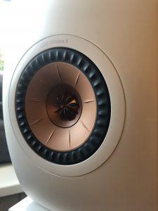 Close up of KEF LS50 Wireless II Uni-Q driver