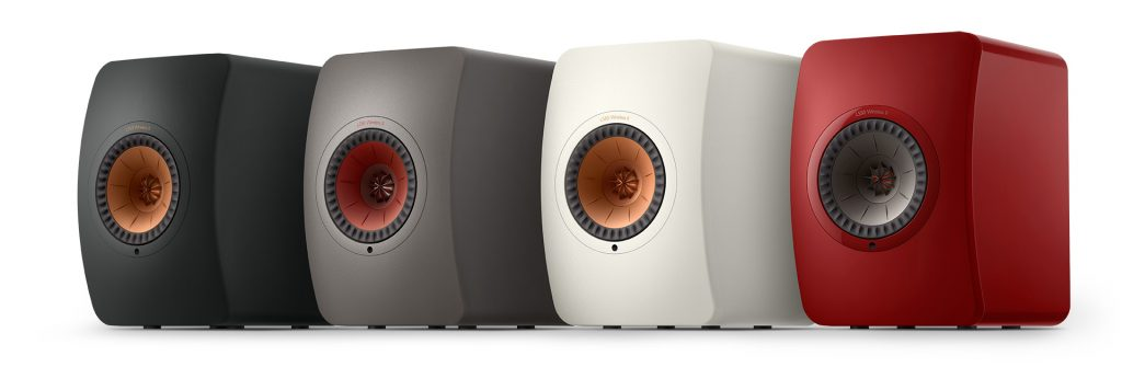 KEF LS50 Wireless II group colour finishes